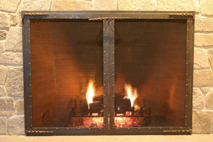 Iron Bronze Fire Screen