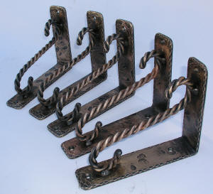 Bronze Bar Top Brackets